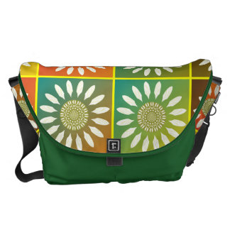 Floral tessellation messenger bag