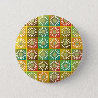 Floral tessellation pinback button