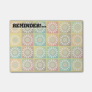 Floral tessellation post-it® notes