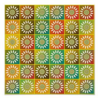 Floral tessellation poster