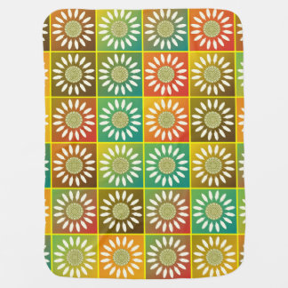 Floral tessellation swaddle blanket