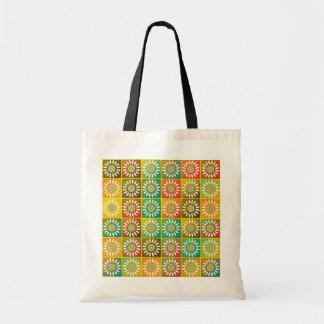 Floral tessellation tote bag