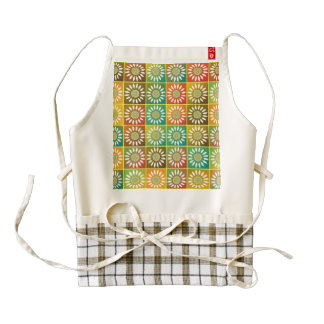 Floral tessellation zazzle HEART apron