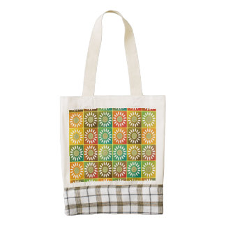 Floral tessellation zazzle HEART tote bag