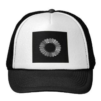 floral text box trucker hat