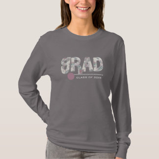 Floral Text Custom Graduation T-Shirts