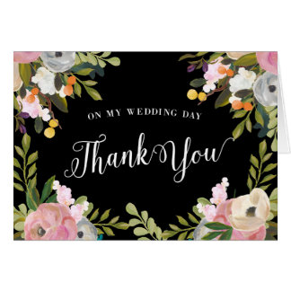 Floral Thank You Cards On My Wedding Day