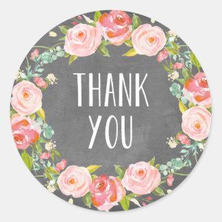 Floral Thank You | Favor Label