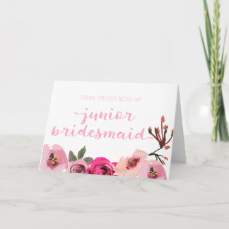 Floral Thank You For Being My Junior Bridesmaid