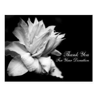 Floral Thank You for Your Donation Customizable Postcard
