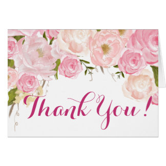 Floral Thank you Note Card
