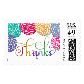 Floral Thank You Postage Stamps