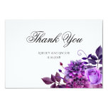 Floral Thank You. Purple Flowers Wedding Note Card at Zazzle
