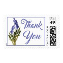 Floral Thank You Purple Lavender Flower Wedding Postage