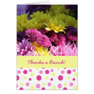 Floral, Thanks a Bunch! Daisies & Polka Dots Card
