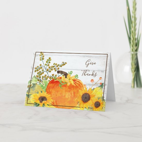 Floral Thanksgiving Card
