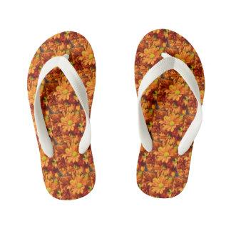 Floral thongs kid's flip flops