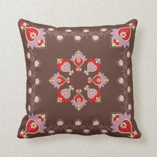 "Floral Throw Pillow (square, 20""x20"")"
