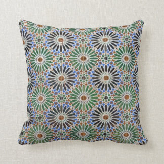 Floral Tile Pattern Throw Pillow