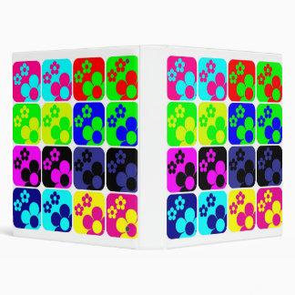 Floral Tiles 3 Ring Binder