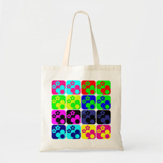 Floral Tiles Budget Tote Bag