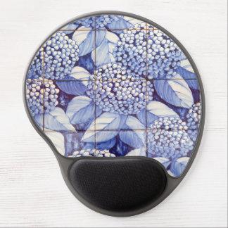 Floral tiles gel mouse pad