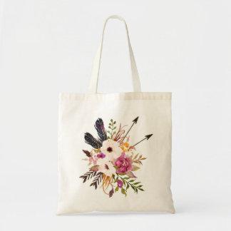 Floral Tote Bag. Boho Tote Bag.
