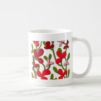 Floral tree coffee mug