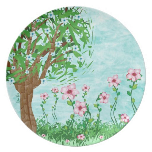 Floral Tree plate