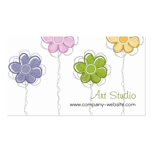 Floral Trendy Business Card