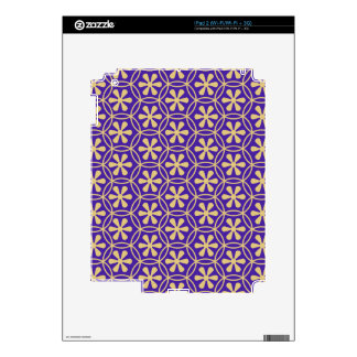 Floral,trendy,purple,gold,quatrefoil,moroccan,chic iPad 2 Decal