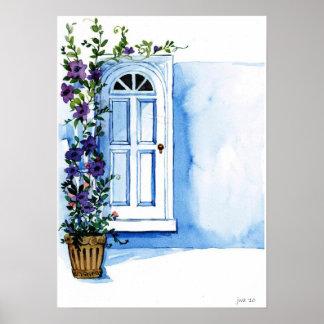 Floral tressle watercolor posters