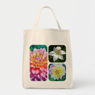 """FLORAL TRIO"" LARGE TOTE CANVAS BAG"