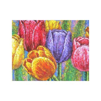 Floral Tulip Stretched Canvas Prints Wall Art