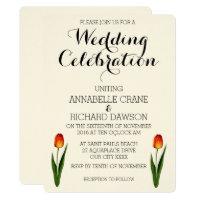 Floral Tulip Wedding Invitations