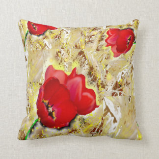 Floral- Tulips Throw Pillow