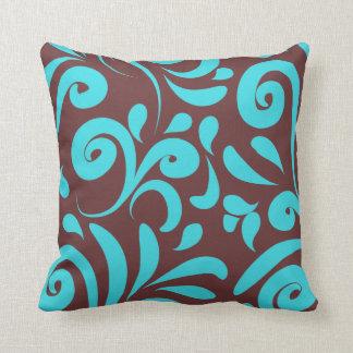 Brown Floral Pillows - Decorative & Throw Pillows Zazzle
