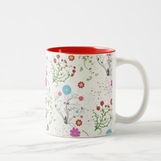 Floral Two-Tone Mug