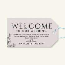 Floral Typography Wedding Welcome Gift Tags