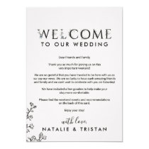 Floral Typography Welcome Letter & Itinerary Invitation