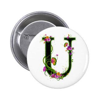 Floral U Button