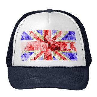 floral uk flag,union jack,the union flag trucker hat