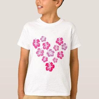 Floral und pink T-Shirt