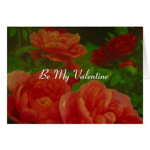floral valentine cards
