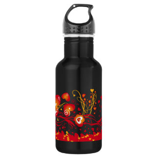Floral Valentine Stainless Steel Water Bottle
