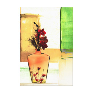 Floral Vase Gallery Wrapped Canvas