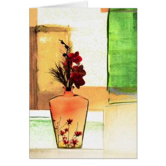 Floral Vase Greeting Card