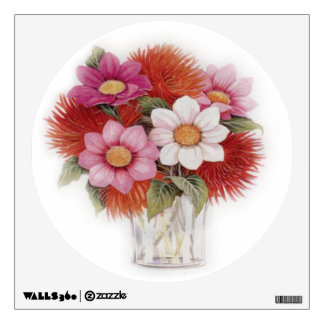 Floral vase Wall Decal