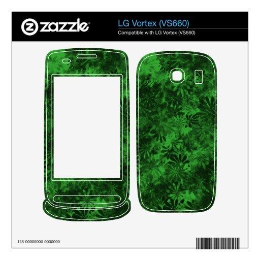 Floral verde calcomanías para LG vortex