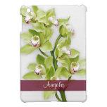 Floral verde de la orquídea del Cymbidium personal iPad Mini Carcasa